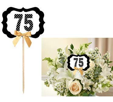 75th Birthday Anniversary Table Decoration Party Centerpiece Pick