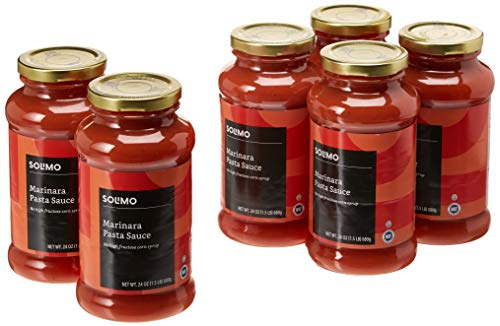 Amazon Brand - 24 oz Solimo Pasta Sauce, Marinara (Pack of 6)