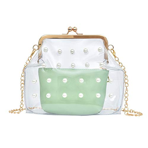 Other-sey  sling bags for women Fashoin Girl Pearl Crossbody Bag Leather Cute Waterproof Candy Color Messenger Bag