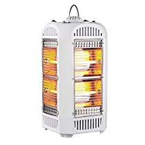Four Sides Heater White Natural Wind Over-Heat Free Standing Halogen Heater For Home And Office Use