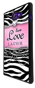 712 - Girly Diamond Live Love Laugh Design For Sony Xperia M2 Fashion Trend CASE Back COVER Plastic&Thin Metal