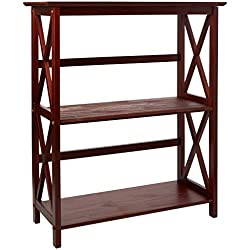 Casual Home Montego 3-Shelf Bookcase-Walnut