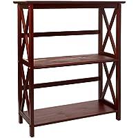 Casual Home Montego 3-Shelf Bookcase-Walnut
