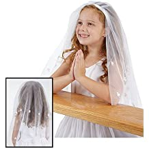Nylon Mesh Irish Shamrock First Communion Headband Veil