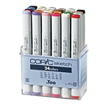 Copic Markers 24-Piece Sketch Set, Basic by Copic Markers