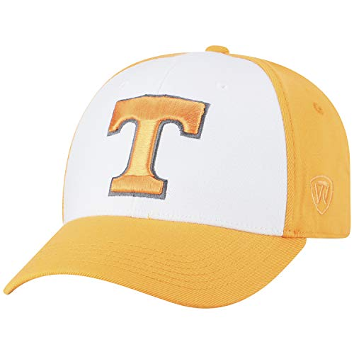 Top of the World NCAA-Premium Collection Two Tone-One-Fit-Memory Fit-Hat Cap- Tennessee -