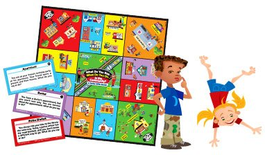 - Super Duper Publications What Do You Say... What Do You Do... in the Community? Social Skills Board Game Educational Learning Resource for Children