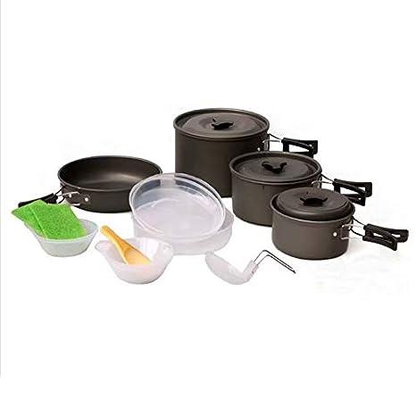 Kit de utensilios de cocina para acampar, juego de cocina para ...