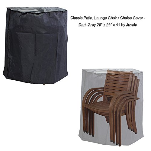 Patio Chair Cover Chair Cover Outdoor Chair Cover Patio Furniture Covers, Dark Grey- 26 x 26 x 41 inches (Clearance Patio Chairs)