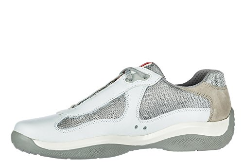 Prada Zapatos Zapatillas de Deporte Hombres EN Piel Nuevo Nevada Blanco