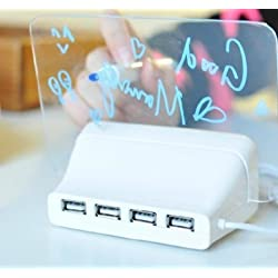 5 LED Message Board with Highlighter Digital Alarm Clock with 4 Port USB Hub