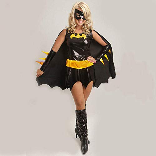 Ambiguity Cosplay Costume Ladies Black Patent Leather Skirt Halloween Angel Outfit Cosplay Costume Demon Outfit Costume