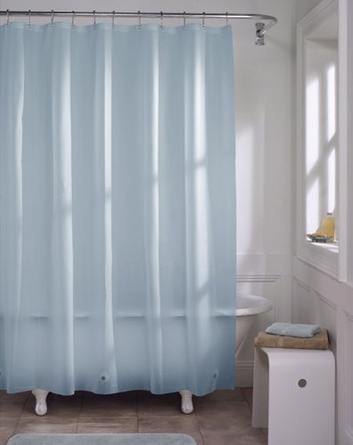 Light Blue Vinyl Shower Curtain Liner
