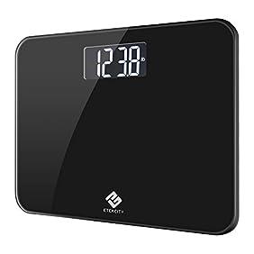 Etekcity Digital Body Weight Bathroom Scale with Extra Large Display, 440 Pounds, Elegant Black