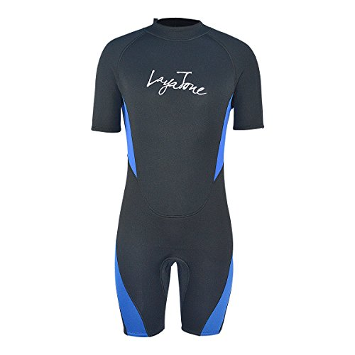 Layatone Wetsuit Shorts Men Premium 3mm Neoprene Diving Suit Keep Warm Wetsuits Women - Surfing Suit Snorkeling Suit Scuba Diving Thick One Piece Swimsuit - Wet Suit - Shorts Shorty Mens
