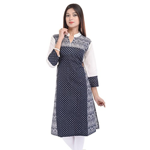 Chichi Indian Women's Printed Cotton Kurti Top