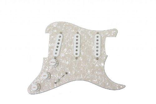 50s Stratocaster Pickups - Twilight Fender Custom Shop Fat 50s Stratocaster Strat Pickup White Pearl Loaded Pickguard Regular 11 Hole
