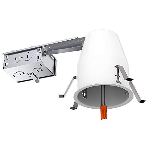 Sunco Lighting 10 Pack 4 Inch Remodel Housing, Air Tight IC Rated Steel Can, 120-277V, TP24 Connector Included for Easy Install - UL & Title 24 Compliant by Sunco Lighting (Image #1)'