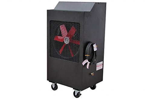 Swampness Monster Portable Evaporative Cooler (Black Powder Coat, 18 Inch)