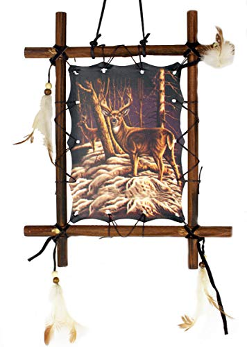 Deer Rustic Frame - OBI Framed Dream Catcher 9