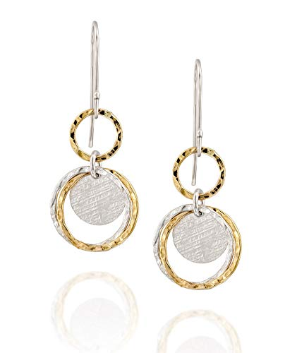 - Stera Jewelry Delightful Multi Circle Two Tone Earrings 925 Sterling Silver & 14k Gold Filled