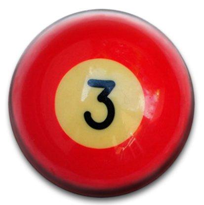 Bolas de billar número 3 Badge: Amazon.es: Hogar