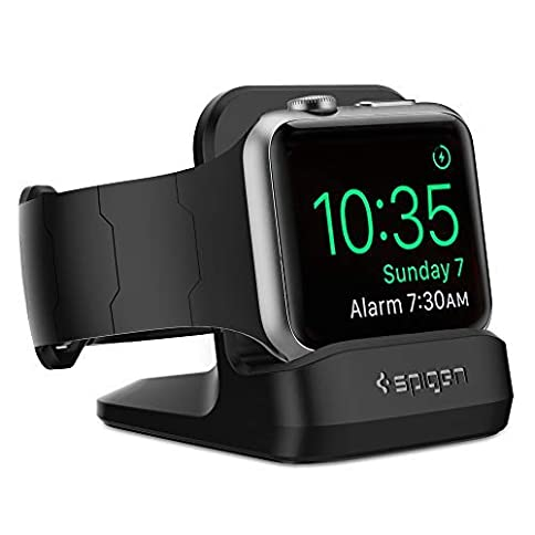 - 41kFxV6ulYL - Spigen S350 Designed for Apple Watch Stand with Night Stand Mode for Series 4 / Series 3 / Series 2 / Series 1 / 44mm / 42mm / 40mm / 38mm, Patent Pending – Black