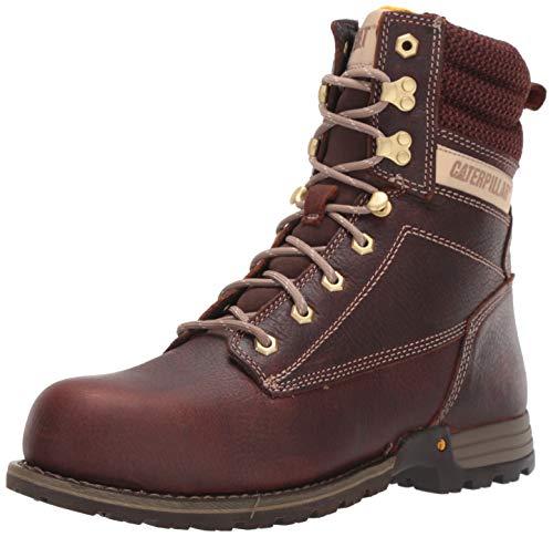 "Caterpillar Women's Clover 8"" Steel Toe Industrial Boot Tawny 7 W US"
