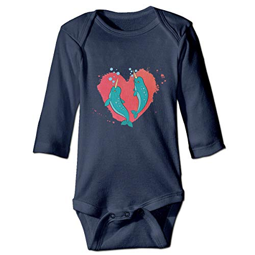 Goldsmith Sally Narwhal Couple Love Gift Unisex Baby Newborn Organic Cotton Long-Sleeve Bodysuits Onesies by Goldsmith Sally