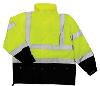 Fits Large and Extra Large ML Kishigo RWJ102 Storm Cover High-Viz Rainwear Jacket Lime RWJ102L-XLMLK