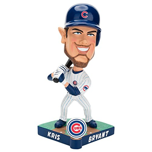 - Forever Collectibles MLB Chicago Cubs Mens Chicago Cubs Bobble Caricature Style Kris Bryant Design, Team Colors One Size