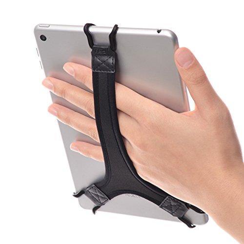 TFY Security Hand Strap Holder Finger Grip for Tablet - Fire 7 / Fire HD 8 / iPad Mini/Galaxy Tab S 8.4 / Galaxy Tab 2/3 / 4 / Galaxy Tab 7.7 (Black)