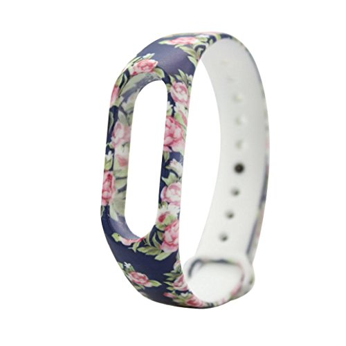 Price comparison product image Dreamyth Replacement Silica Gel Wristband Band Strap for Xiao Mi Band 2 Bracelet (A)