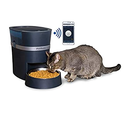 Automatic cat feeder PetSafe Smart Feed Automatic Dog and Cat Feeder, Wi-Fi Enabled... [tag]
