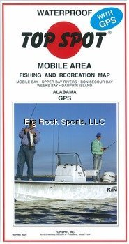 Top Spot Fishing Map from Mobile Bay to Dauphin Island