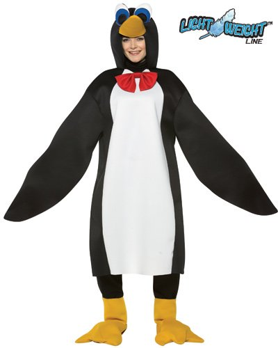 Rasta Imposta Lightweight Penguin Costume, Black/White, One Size
