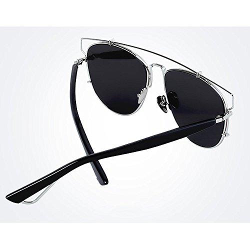 de Gafas Negros Hombre Lentes Bolsa Sunglasses Unisex Negro Mujeres Sol Completo Color Cordón para para de con LVZAIXI Azul de Aviador 5SqzvOS