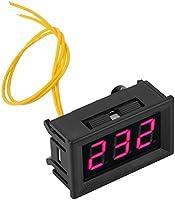 AC Voltmeter Digital LED Display Voltage Meter Panel 2 Wire Mini Voltage Tester 70-380V Volt Gauge