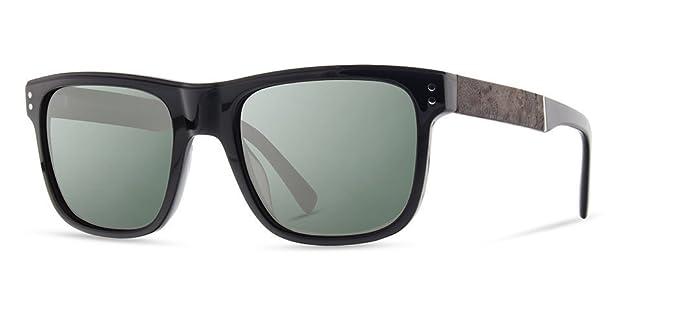 a859e7c65ce Shwood - Monroe Rectangle Acetate   Wood Sunglasses - Black    Elm Burl
