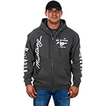 JH DESIGN GROUP Men's Ford Mustang Hoodies In 5 Styles With Exclusive American Flag Sticker