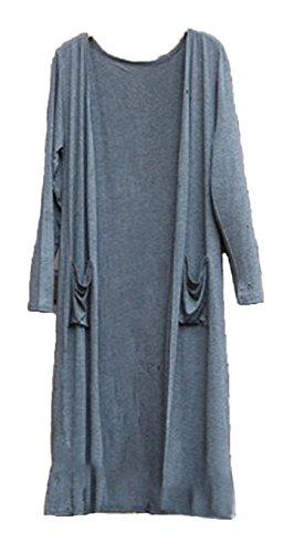 [エンジェルムーン] ロングカーディガン レディース 薄手 マキシ きれいめ ポケット 付き ロングカーデ 羽織り