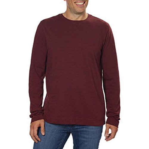 Calvin Klein Men's Slub Knit Crew Neck Long Sleeve Pullover Shirt (X-Large, Rugby (Long Sleeve Pullover Knit)