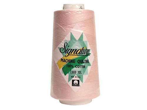 Signature Thread Signature Ctn 3000yd 100% Cotton Quilt Thread 3000 Petal Pink