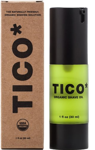 TICO* Shave Oil, USDA Certified Organic, 1 fl oz (30ml), Great for Sensitive Skin from TICO* Shaving Co