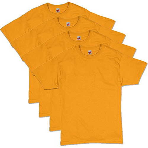 Hanes Men's Comfortsoft T-Shirt (Pack Of 4),gold,Large
