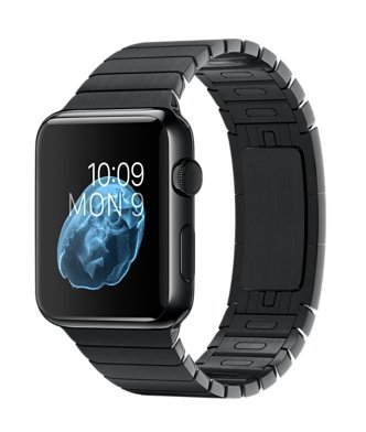 Apple Watch 42mm Stainless Steel Case (Black Link Bracelet)