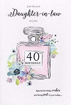Daughter In Law 40th Birthday Card Amazoncouk Office Products
