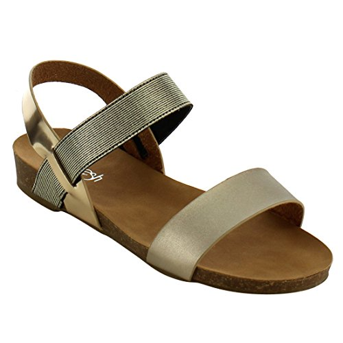 champagne color dress sandals - 9
