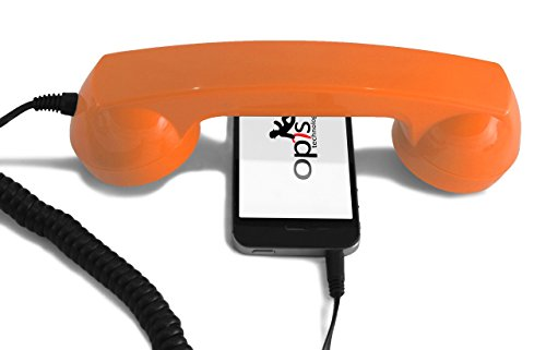 OPIS 60s Micro: Retro handset/Vintage handset/Retro Receiver/Mobile handset for iPhone, Galaxy, Huawei and All Modern Smartphones (Orange) from Opis Technology