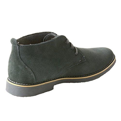 Mens Svizzera Alpina Beck Genuino Chukka Desert Boots Grigio